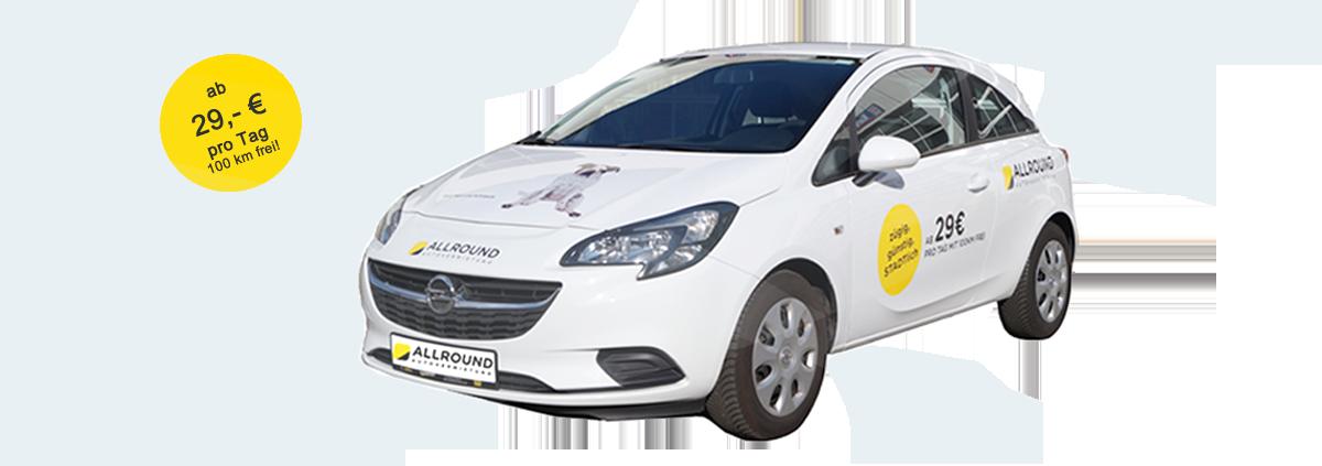 PKW Angebot zur miete eines Autos