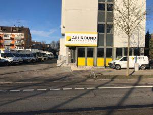 Standort der ALLROUND Autovermietung in Augsburg